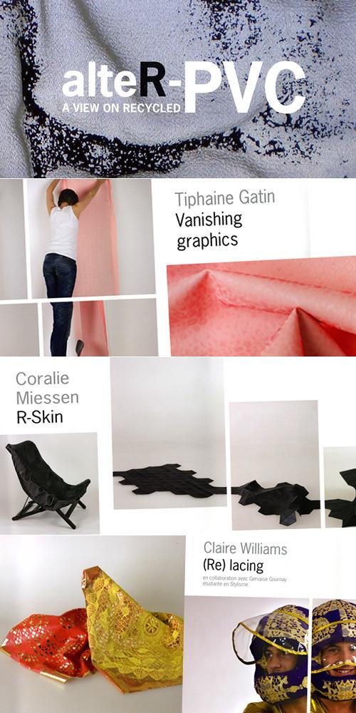 images extraites du livret Alter-PVC par la Cambre