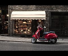 Italian street view (Focusje (tammostrijker.photodeck.com)) Tags: street red italy shop italian view scooter