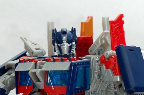 Juguete de Optimus Prime en acercamiento