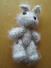 Tiny Bun (trinlayk) Tags: rabbit bunny handmade crochet knit plushies tiny amigurumi stuffies lapin usagi allrightsreserved sillykitty amigurumiadventure trinlayk allrightsreserved©