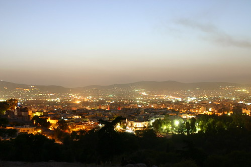 Athens at Night from Mars Hill