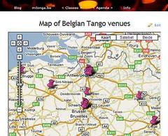 Milonga.be: tango venues