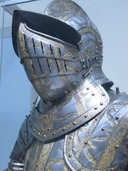 Armor of Henry Herbert Second Earl of Pembroke etched and gilt English Greenwich about 1575-1580 CE - by mharrsch
