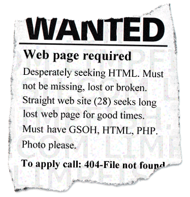 Wanted ad 404