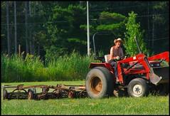 """the farmer"" (cagedbirdy) Tags: tractor farming agriculture cwd classwithdave cwd293"