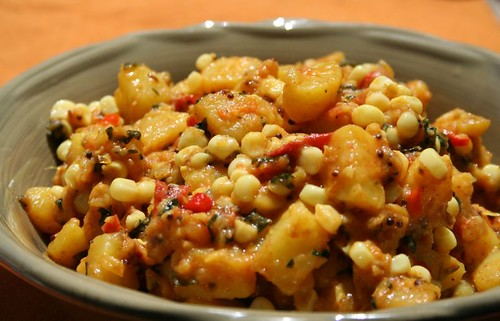 Corn and Aloo Sabji