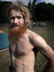 Tintin Tattoo (Annie Atkins) Tags: tattoo beard snowy brother topless tintin fergus