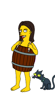 simpsons barrel and cat