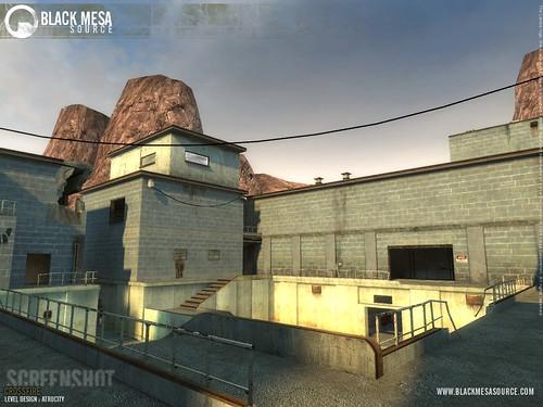 Black Mesa base exterior