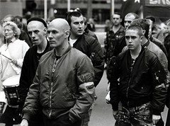 Fascists, London, late 80's (dave sinclair Liverpool) Tags: london bnp skinhead fascists