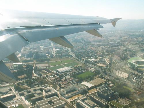 Flying over Lisbon