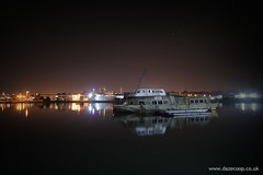 Ghost ship (Dazecoop) Tags: longexposure night southampton canon400d