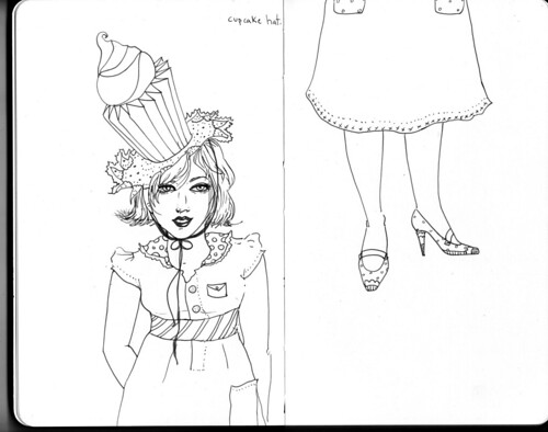 SKETCHBOOK-cupcake hat