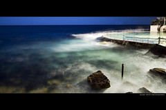 Haze (markdanielowen) Tags: ocean sunset beach water pool bondi night swimming swim fence lights twilight waves colours pacific sydney australia pacificocean nsw saturation swimmer swimmers bondibeach tidal bronte tidalpool tamarama naturesfinest oceanpool brontebeach abigfave tammaramma anawesomeshot colorphotoaward markdanielowen tamaramma brontey