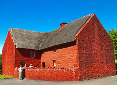 St.Fagans 16th century traditional house (Kuntjoro.Hadi) Tags: blue red sky house green ancient searchthebest weekend traditional vivid conservation national blueribbonwinner anawesomeshot holidaysvacanzeurlaub winnerstrophy colourartaward