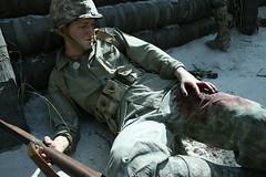 Marine Corps Museum Wax Display (optimusprime2111) Tags: usmc museum soldier blood marine display m1 wounded leg rifle corps wax trauma garand