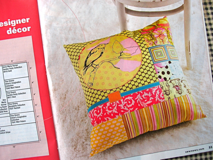 Sew news pillow