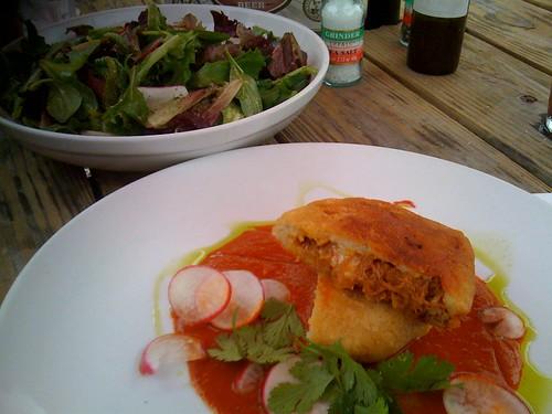 Fatty lamb and salad at Beaver's