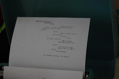 typewriter poem