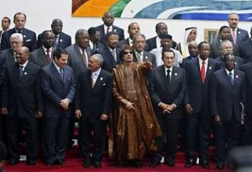 Group photograph from the African-Arab Summit held in Sirte, Libya during the second week of October 2010. The gathering rejected the notion of dividing Sudan, the continent's largest geographic nation-state. by Pan-African News Wire File Photos