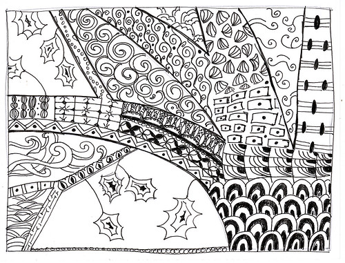 Zentangle: Leaf Challenge 1