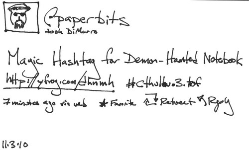 Demon-Haunted Notebook: Magic Twitter Hashtag