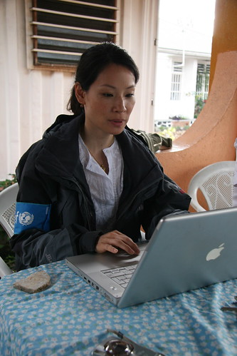 Lucy Liu Blogging for UNICEF from DRC by UNICEF Up Close