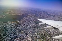 Wingtip (djKianoosh) Tags: city newyorkcity skyline brooklyn plane newjersey cityscape centralpark bronx manhattan flight aerial jersey