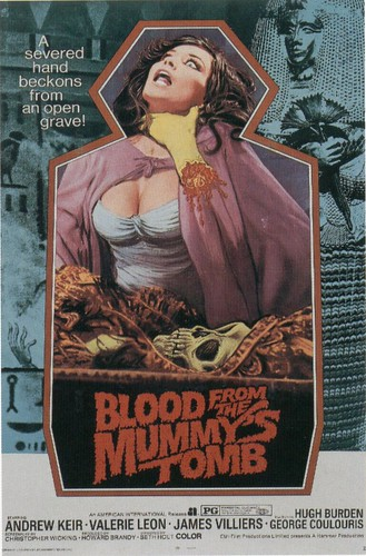 Blood from the mummy's tomb dans cinema