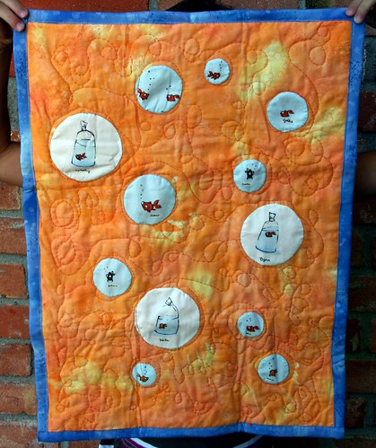 Free Swim: doll quilt rec'd by me!
