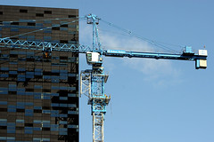demontage potain towercrane (Mike van Raaij (will be back soon)) Tags: netherlands skyscraper nijmegen crane bouwen nederland f1 menatwork height deconstruction gebouw bouw gelderland kraan bouwplaats towercrane bouwkraan demontage hoogte 25views hoogtevrees 52degrees ballastnedam fiftytwodegrees potain bouwkranen nibm afbreken hochbau hochundtiefbau opgrotehoogte geenhoogtevrees makingof52degrees constructionof52degrees uitklimmen klimkooi