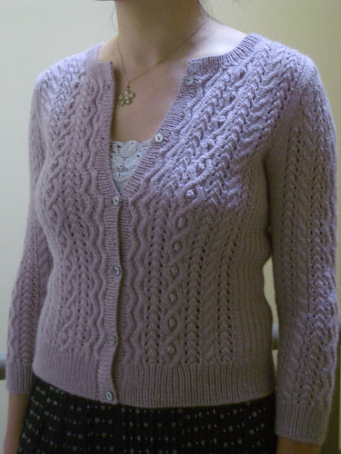 lacy cable cardigan 1