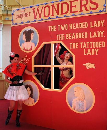 cupcake girl and tattooed lady I