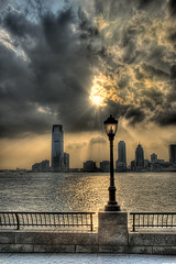 Jersey City From Financial District (Poppa-D) Tags: city nyc sunset ny newyork darren skyline night river nikon cityscape d manhattan pad stevenson jersey hudson d200 hdr poppa poppad supershot 5xp