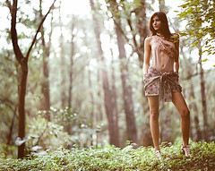 (MaUroLopesMarZiano) Tags: blue parque trees red woman white black tree sexy green classic glass girl grass hat fashion fog modern stairs forest pose hair mirror fly