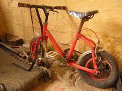 old bike (abustaca) Tags: rojo oxido carro antiguo bicibleta oxidado nevera abandonado viejos electrodomesticos