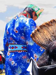 Visitin USA Native American Pow Wow Princess (Nihihiro & Shihiro) Tags: from blue arizona usa glass wow dress princess native silk turquiose american crown ribbon pow visiting beaded cokeville