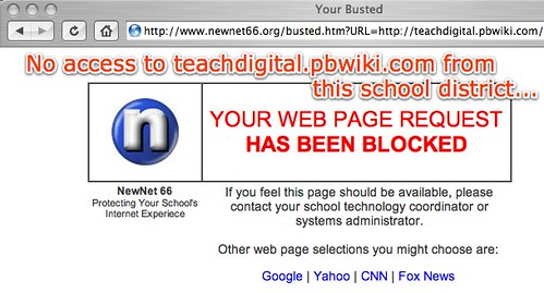 Your Busted - No access to teachdigital.pbwiki.com