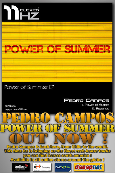 EHZEP060 - Pedro Campos - Power of Summer EP - 11Hz Recordings
