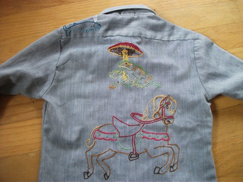 Pearl's cowgirl shirt - back embroidery