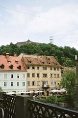 Bars by the Ljubljanica river (RachelH_) Tags: bridge castle river restaurant bars slovenia ljubljana ljubljanica