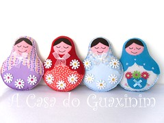 Novas Matrioskas / New dolls Matrioska (A.casa.do.Guaxinim) Tags: doll felt softie feltro boneca matrioska