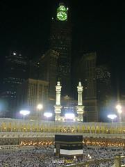[Makkah Clock Tower] 07.11.2010 (8) ('asyiqul^huur) Tags: november sunset green tower clock beautiful sky
