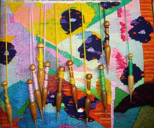 Tapestry weaving in progress 2