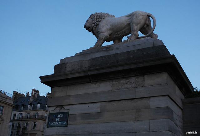 Lion de la Place de la Concorde