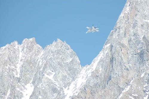 Fighter jet buzzing Mt Waddington