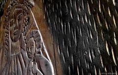 Love Shell (Omar Eduardo) Tags: temple templo door puerta madera wood tlayacapan morelos mxico burned ash coal carbn ceniza carved tallada vigin virgen cristo christ dflickr flickrtours flickrs textura texture dflickr020607