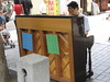 piano protester in Insadong. The s…