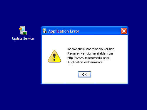 Sony Ericsson Update Service - Fehlermeldung