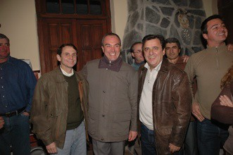 Sergio Cóser con Luis Brower de Koning y Mario Negri